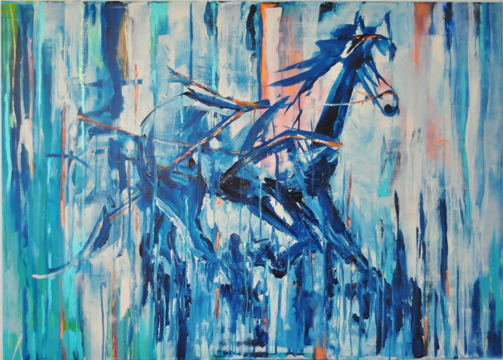 paard Acryl op doek 120cm x 75cm Privébezit