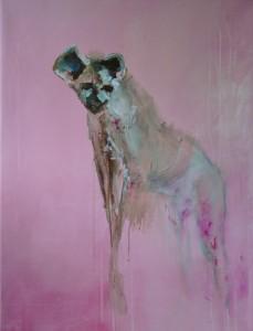 pink I acryl op canvas 65cm x 85cm € 442,00