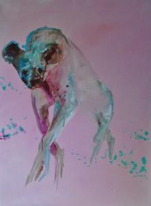 pink II Acryl op doek 65cm x 85cm € 442,00
