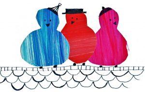 three singing birds